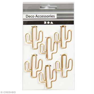 Trombones Cactus Dorés - 3 x 4 cm - 6 pcs