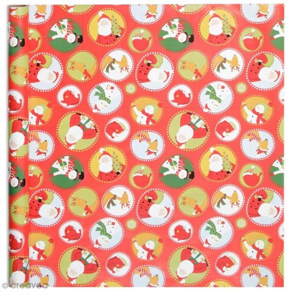 Rouleau papier cadeau - Personnages de Noël - 50 cm x 5 m - Photo n°1