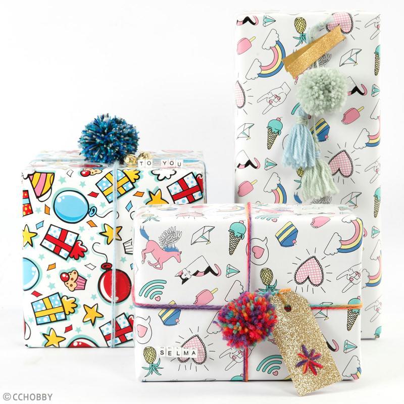 Rouleau papier cadeau - Dinosaures - 50 cm x 5 m - Photo n°3