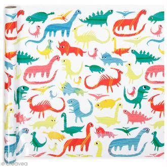 Rouleau papier cadeau - Dinosaures - 50 cm x 5 m