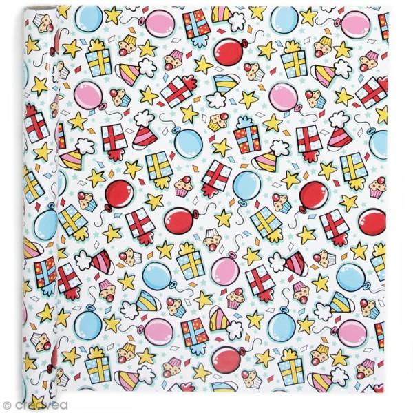 Rouleau Papier Cadeau Fête 50 Cm X 5 M
