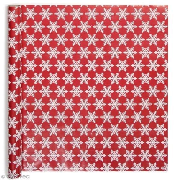 Rouleau Papier Cadeau Flocons Brodés 50 Cm X 3 M