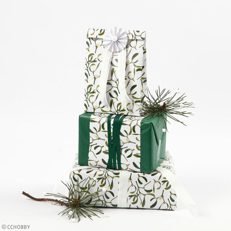 Rouleau papier cadeau - Cactus blancs - 50 cm x 53 m - Photo n°3