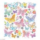 Stickers papier - Papillons Multicolores - Détails argentés - 32 pcs