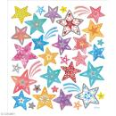 Stickers papier - Etoiles Multicolores - Détails argentés - 31 pcs - Photo n°2