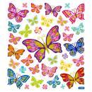 Stickers plastifiés - Papillons Multicolores - Détails Paillettes dorées - 35 pcs - Photo n°2