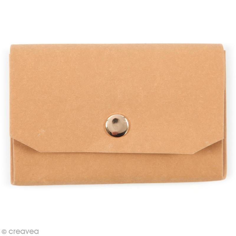 Porte-monnaie en papier effet cuir - 11 x 8 cm - Photo n°1