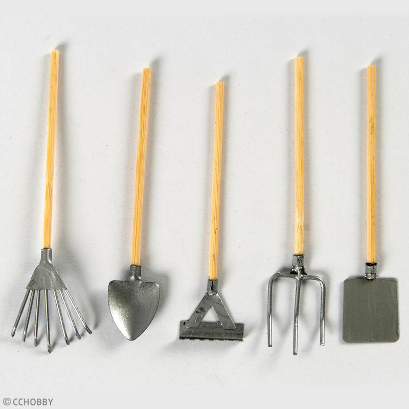 Décoration de jardin miniature - Set outils de jardin - 11 cm - 20 pcs - Photo n°2