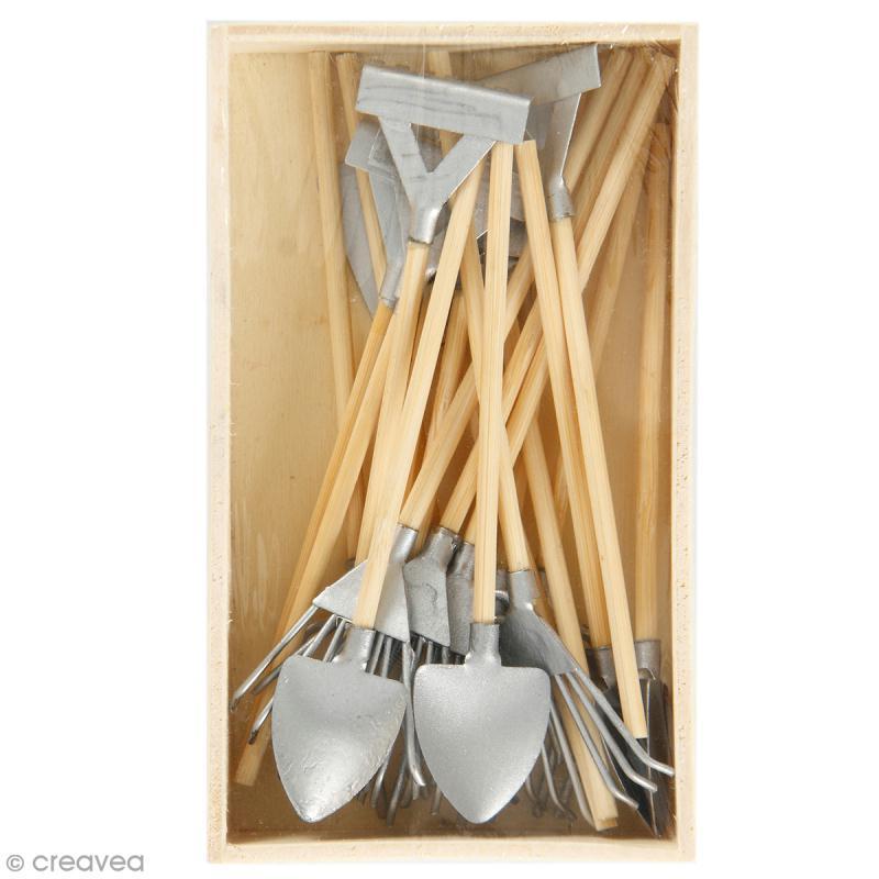 Décoration de jardin miniature - Set outils de jardin - 11 cm - 20 pcs - Photo n°1