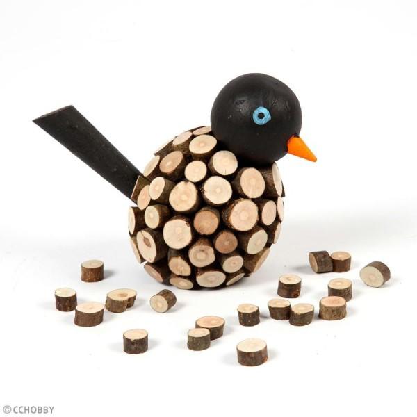 Rondelles de bois décoratives - 7 à 10 mm - 230 g - Photo n°3