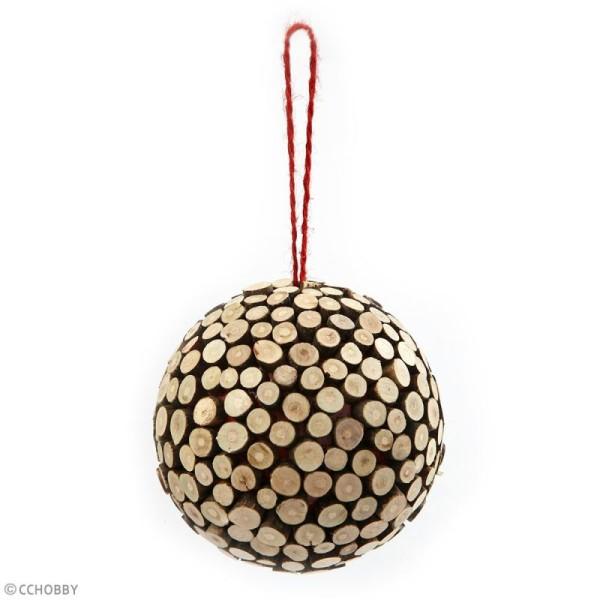 Rondelles de bois décoratives - 7 à 10 mm - 230 g - Photo n°4