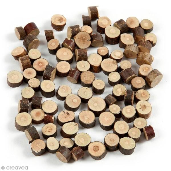 Rondelles de bois décoratives - 7 à 10 mm - 230 g - Photo n°1