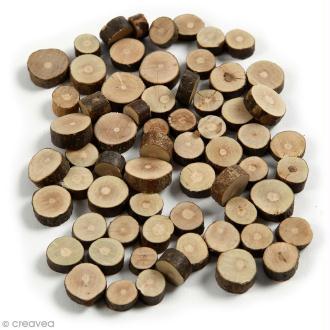 Rondelles de bois décoratives - 10 à 15 mm - 230 g