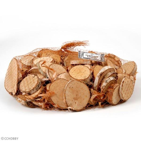 Rondelles de bois décoratives - 25 à 45 mm - 600 g - Photo n°2