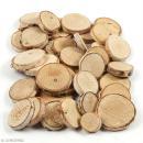 Rondelles de bois décoratives - 25 à 45 mm - 600 g - Photo n°1