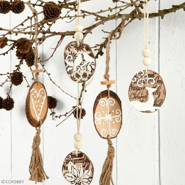 Rondelles de bois décoratives - 4 à 7 cm - 25 pcs - Photo n°3