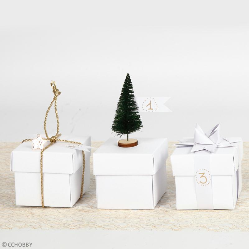 Lot de mini Sapins décoratifs - 6 à 7 cm - 5 pcs - Photo n°2