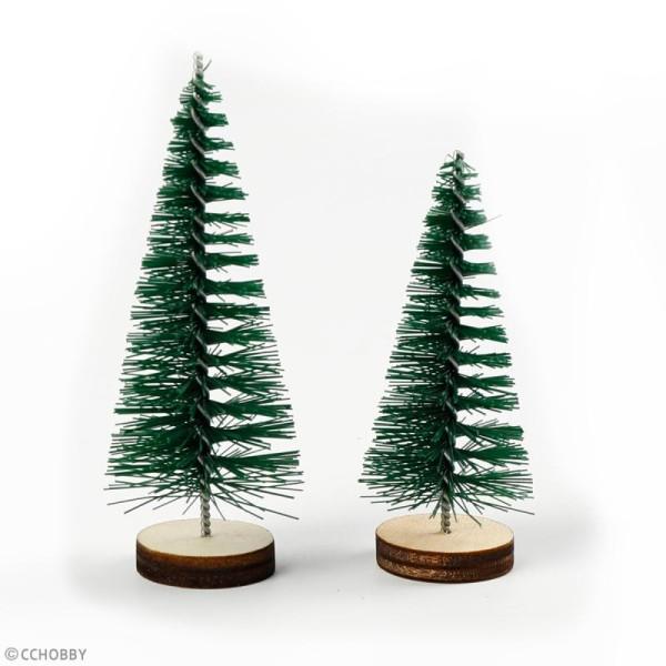 Lot de mini Sapins décoratifs - 6 à 7 cm - 5 pcs - Photo n°3