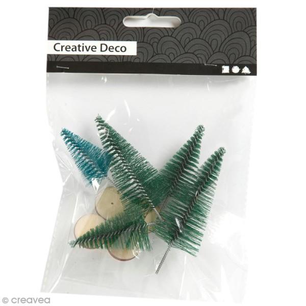 Lot de mini Sapins décoratifs - 6 à 7 cm - 5 pcs - Photo n°1