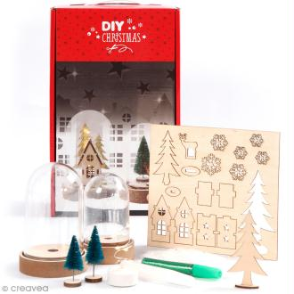 Kit cloches de Noël décoratives -  10 cm et 12,5 cm - 2 pcs