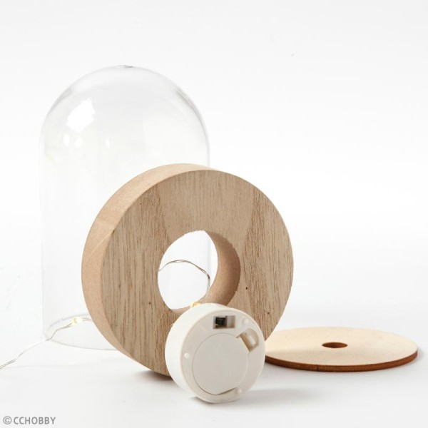 Bougie chauffe-plat avec fil mini LED - 6 LED - Photo n°2