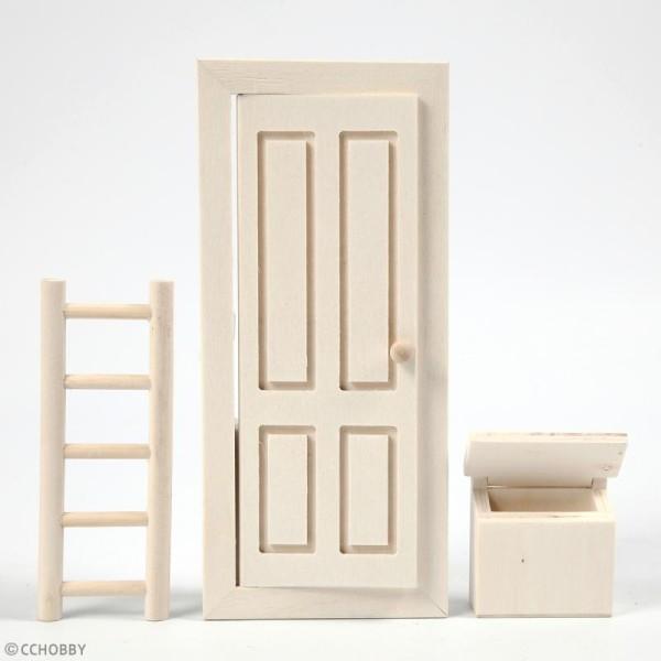 Miniature décorative en bois - La porte du lutin - 8 x 18 cm - 3 pcs - Photo n°2