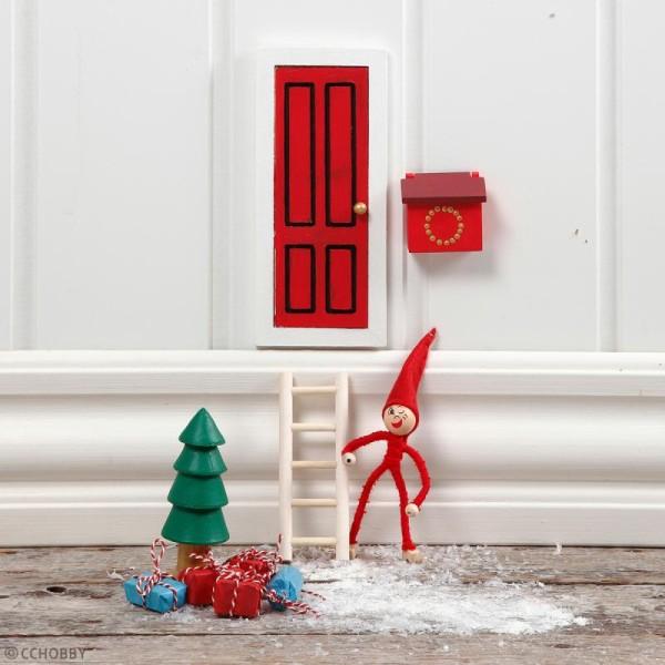Miniature décorative en bois - La porte du lutin - 8 x 18 cm - 3 pcs - Photo n°3