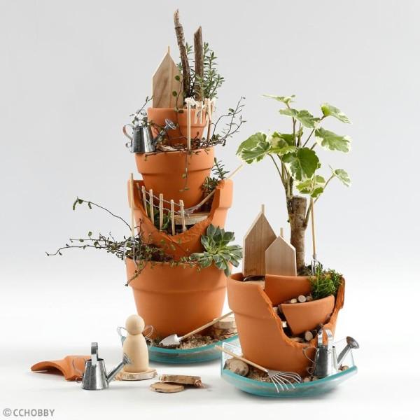 Figurine en bois à décorer - 5 cm - 5 pcs - Photo n°3