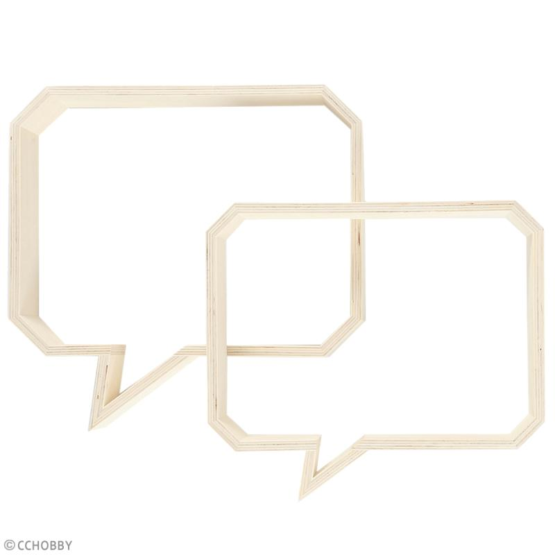 Etagères Bulles rectangulaires en bois à décorer - 27 et 30 cm - 2 pcs - Photo n°2