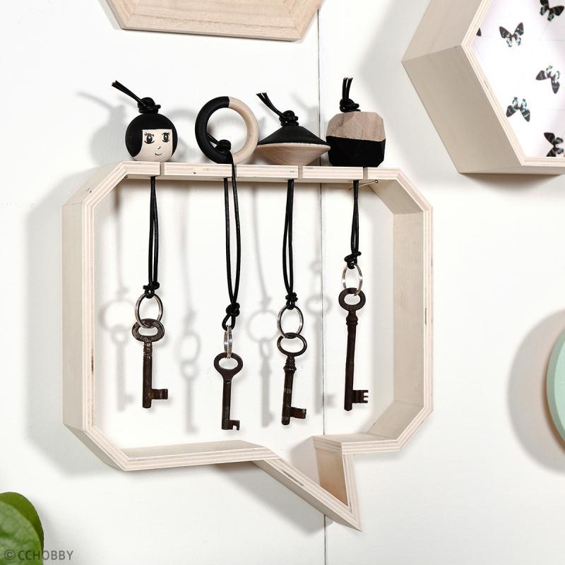 Etagères Bulles rectangulaires en bois à décorer - 27 et 30 cm - 2 pcs - Photo n°3
