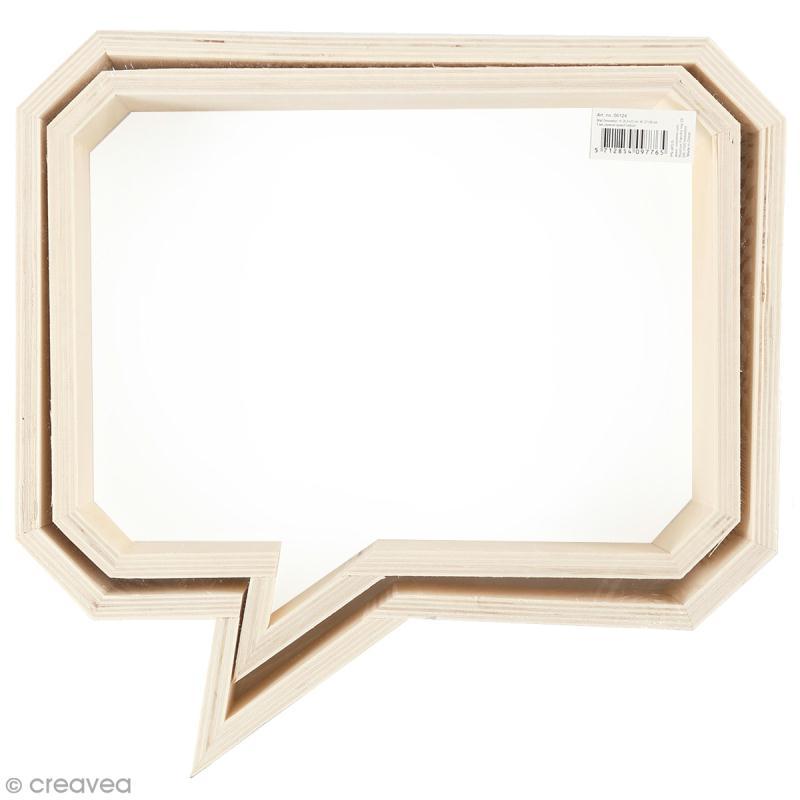 Etagères Bulles rectangulaires en bois à décorer - 27 et 30 cm - 2 pcs - Photo n°1