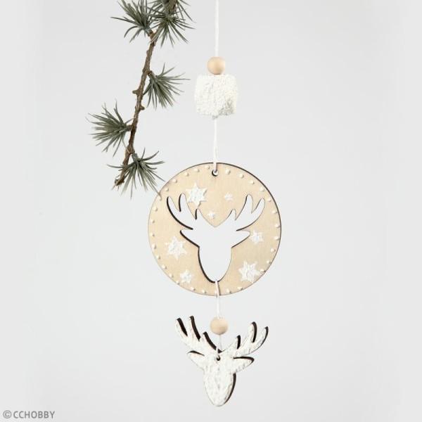 Perles polygonales en bois à décorer - 20 mm - 6 pcs - Photo n°3