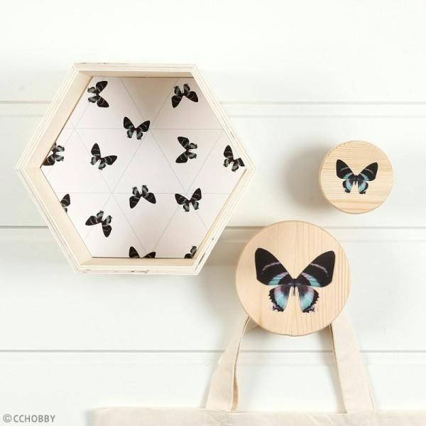 Etagères Losange en bois à décorer - 11, 14 et 20 cm - 3 pcs - Photo n°2