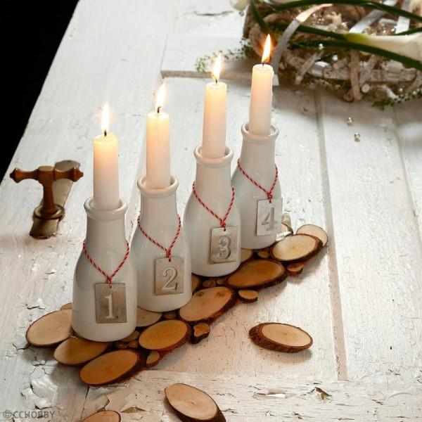 Rondelles de bois décoratives - 11 x 7,5 cm - 12 pcs - Photo n°2
