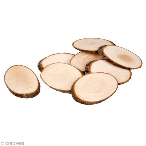 Rondelles de bois décoratives - 11 x 7,5 cm - 12 pcs - Photo n°1