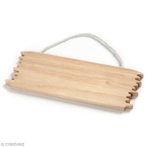 Panneau en bois à décorer - 16 x 5,5 cm - Photo n°1