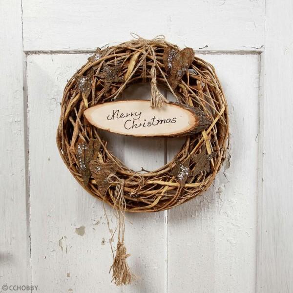 Panneau rondelle de bois à décorer - 25 x 7 cm - Photo n°3