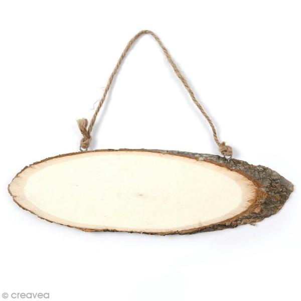 Panneau rondelle de bois à décorer - 25 x 7 cm - Photo n°1