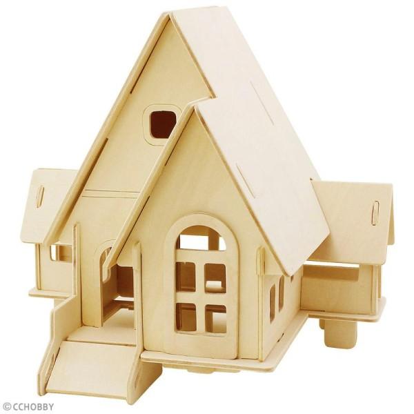 Puzzle 3D à décorer - Petite maison - 19 x 22,5 cm - Photo n°2