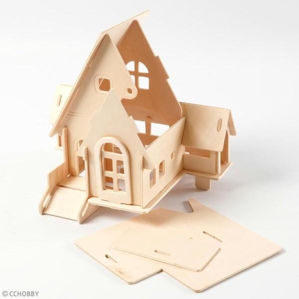 Puzzle 3D à décorer - Petite maison - 19 x 22,5 cm - Photo n°4