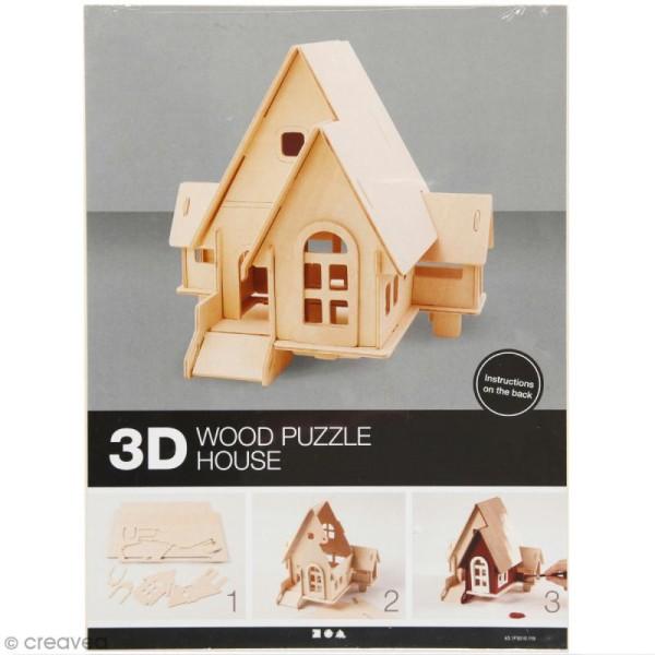 Puzzle 3D à décorer - Petite maison - 19 x 22,5 cm - Photo n°1