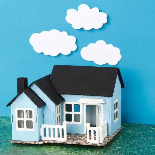Puzzle 3D à décorer - Maison avec balcon - 18,5 x 19 cm - Photo n°2