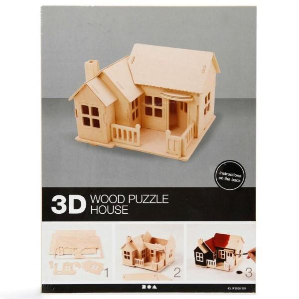 Puzzle 3D à décorer - Maison avec balcon - 18,5 x 19 cm - Photo n°3