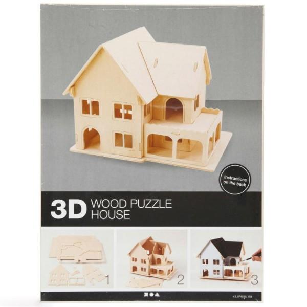 Puzzle 3D à décorer - Maison avec véranda - 16 x 22 cm - Photo n°2