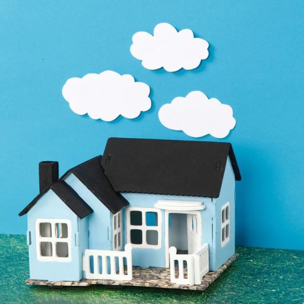 Puzzle 3D à décorer - Maison avec véranda - 16 x 22 cm - Photo n°3