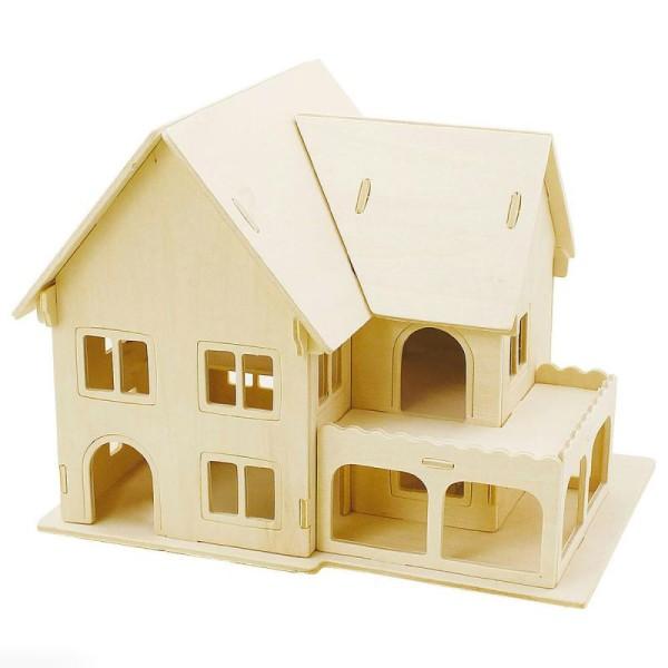 Puzzle 3D à décorer - Maison avec véranda - 16 x 22 cm - Photo n°1