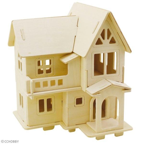 Puzzle 3D à décorer - Maison avec terrasse - 13 x 19 cm - Photo n°2