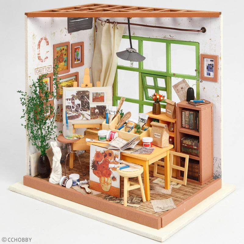 Kit maquette - Mini décor Atelier de peinture - Photo n°2