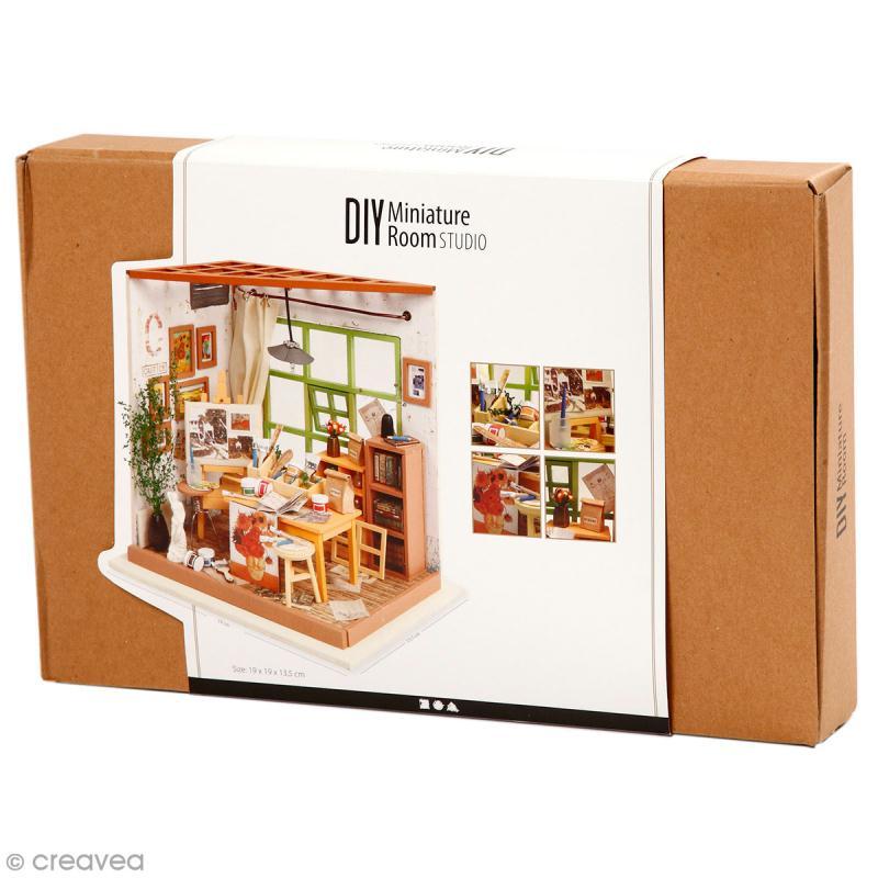 Kit maquette - Mini décor Atelier de peinture - Photo n°1