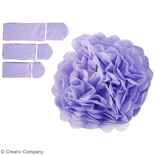 Lot de pompons en papier de soie - différents coloris - 20, 24, 30 cm - 3 pcs - Photo n°4